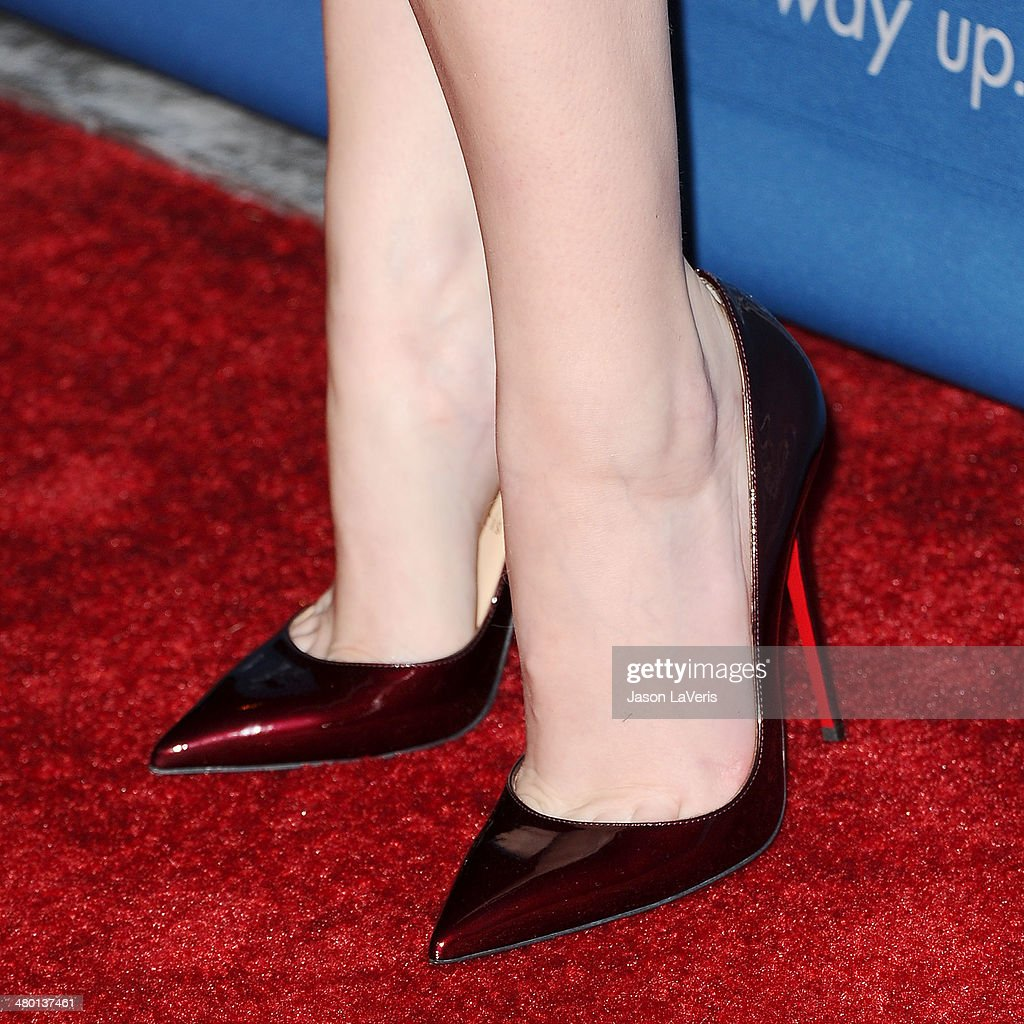 Actress Anna Kendrick (shoe detail) attends the Backstage at the Geffen annual fundraiser at Geffen Playhouse on March 22, 2014 in Los Angeles, California.