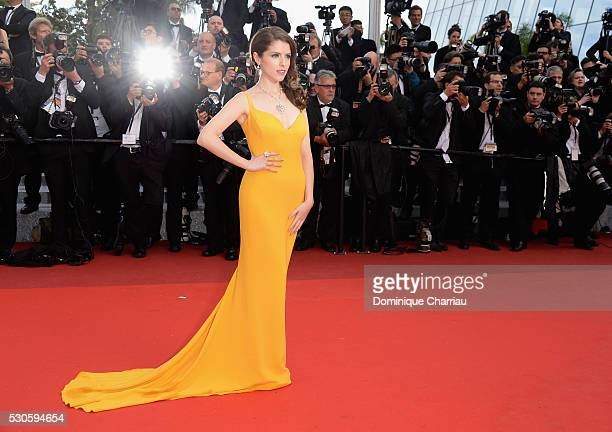 Actress Anna Kendrick attends the 'Cafe Society' premiere and the Opening Night Gala during the 69th annual Cannes Film Festival at the Palais des...