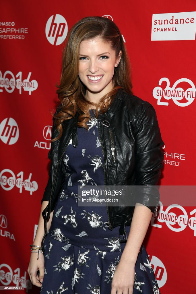 Actress Anna Kendrick attends the 'Happy Christmas' premiere at Library Center Theater during the 2014 Sundance Film Festival on January 19, 2014 in Park City, Utah.