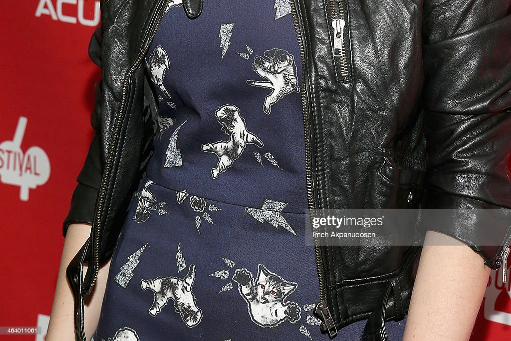 Actress Anna Kendrick (dress detail) attends the 'Happy Christmas' premiere at Library Center Theater during the 2014 Sundance Film Festival on January 19, 2014 in Park City, Utah.