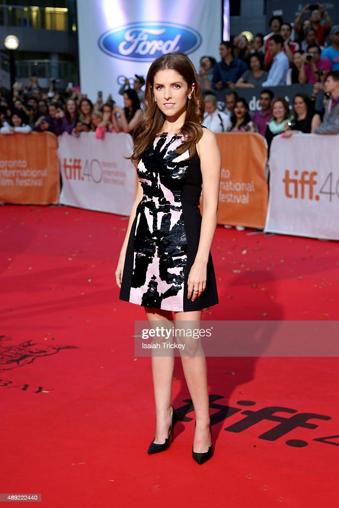 Actress Anna Kendrick attends the 'Mr. Right' premiere during the Toronto International Film Festival at Roy Thomson Hall on September 19, 2015 in Toronto, Canada.