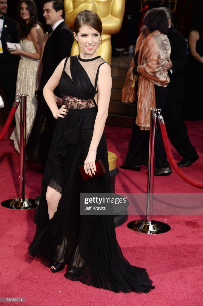 Actress <a gi-track='captionPersonalityLinkClicked' href=/galleries/search?phrase=Anna+Kendrick&family=editorial&specificpeople=3244893 ng-click='$event.stopPropagation()'>Anna Kendrick</a> attends the Oscars held at Hollywood & Highland Center on March 2, 2014 in Hollywood, California.