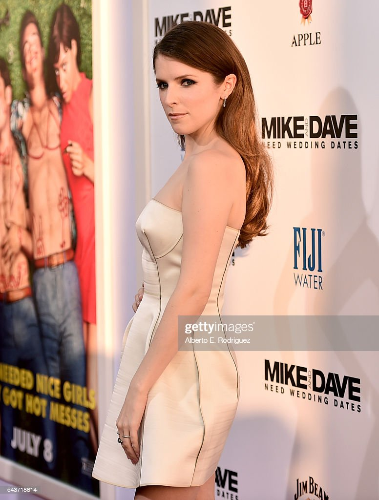 Actress Anna Kendrick attends the premiere of 20th Century Fox's 'Mike and Dave Need Wedding Dates' at ArcLight Cinemas Cinerama Dome on June 29 2016...