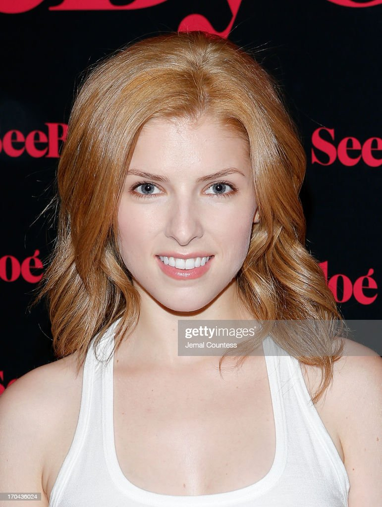 Actress <a gi-track='captionPersonalityLinkClicked' href=/galleries/search?phrase=Anna+Kendrick&family=editorial&specificpeople=3244893 ng-click='$event.stopPropagation()'>Anna Kendrick</a> attends the SeeByChloe Spring 2014 collection and premiere fragrance celebration at Industria Superstudio on June 12, 2013 in New York City.