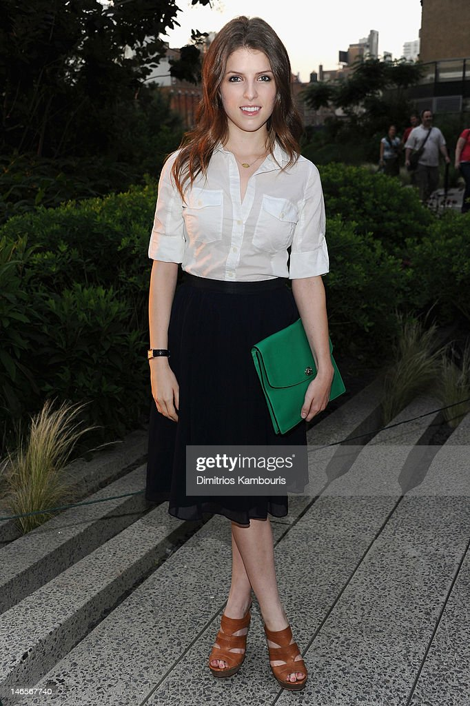 Actress <a gi-track='captionPersonalityLinkClicked' href=/galleries/search?phrase=Anna+Kendrick&family=editorial&specificpeople=3244893 ng-click='$event.stopPropagation()'>Anna Kendrick</a> attends the Summer Party on the HIGH LINE, Presented by COACH at The Highline on June 19, 2012 in New York City.