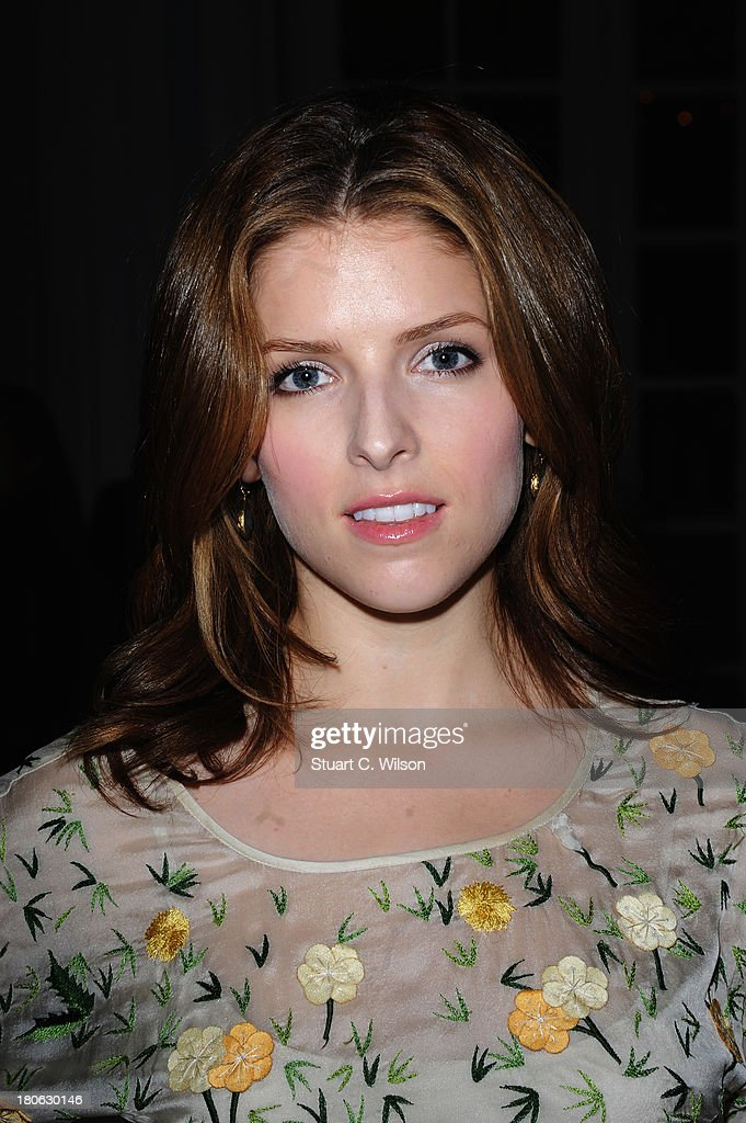 Actress <a gi-track='captionPersonalityLinkClicked' href=/galleries/search?phrase=Anna+Kendrick&family=editorial&specificpeople=3244893 ng-click='$event.stopPropagation()'>Anna Kendrick</a> attends the Temperley London show during London Fashion Week SS14 at The Savoy Hotel on September 15, 2013 in London, England.