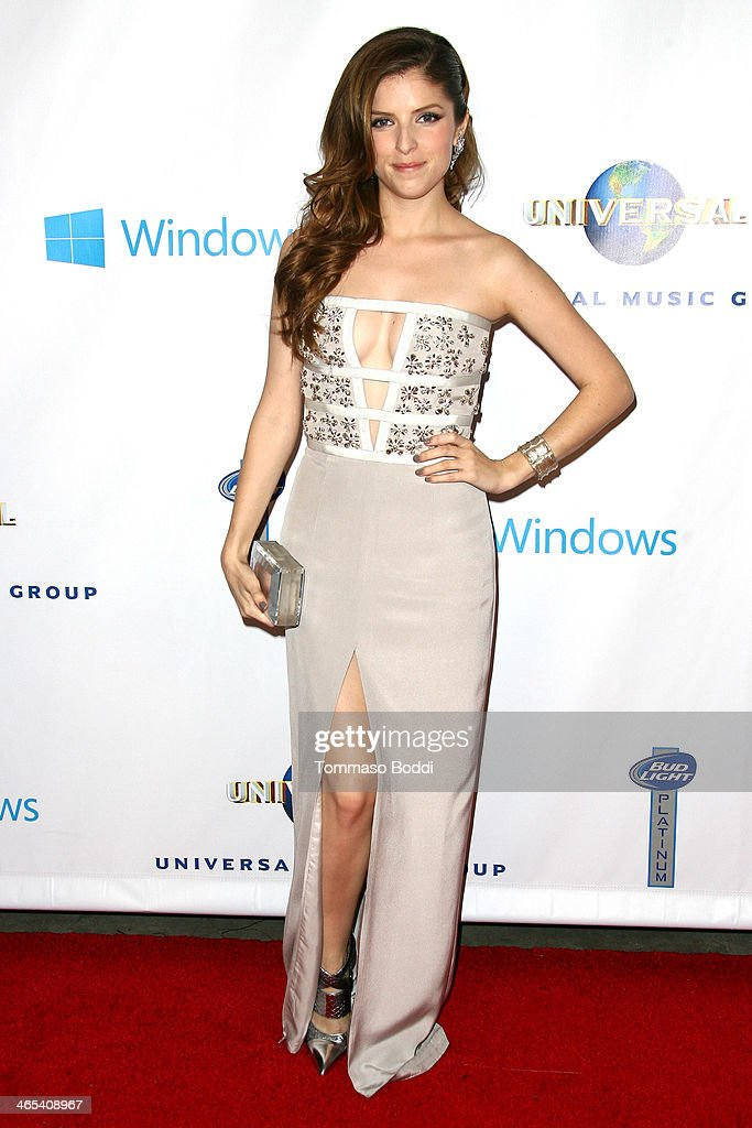Actress <a gi-track='captionPersonalityLinkClicked' href=/galleries/search?phrase=Anna+Kendrick&family=editorial&specificpeople=3244893 ng-click='$event.stopPropagation()'>Anna Kendrick</a> attends the Universal Music Group 2014 post GRAMMY party held at The Ace Hotel Theater on January 26, 2014 in Los Angeles, California.