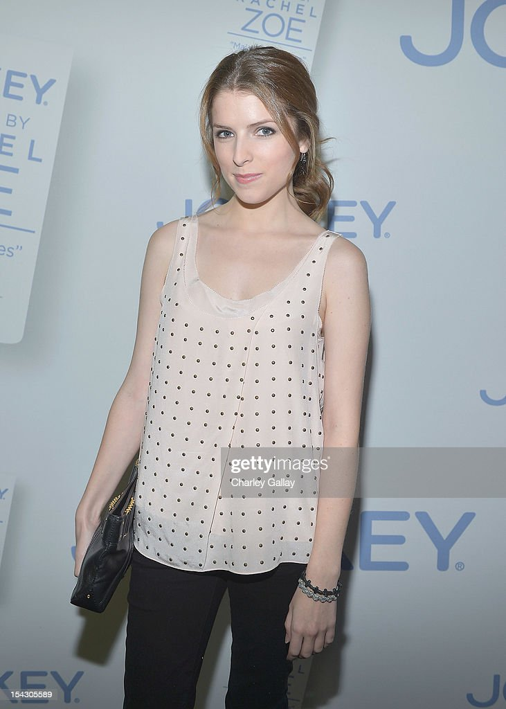 Actress <a gi-track='captionPersonalityLinkClicked' href=/galleries/search?phrase=Anna+Kendrick&family=editorial&specificpeople=3244893 ng-click='$event.stopPropagation()'>Anna Kendrick</a> celebrates the launch of Rachel ZoeÕs ÒMajor Must HavesÓ from Jockey at Sunset Tower on October 17, 2012 in West Hollywood, California.