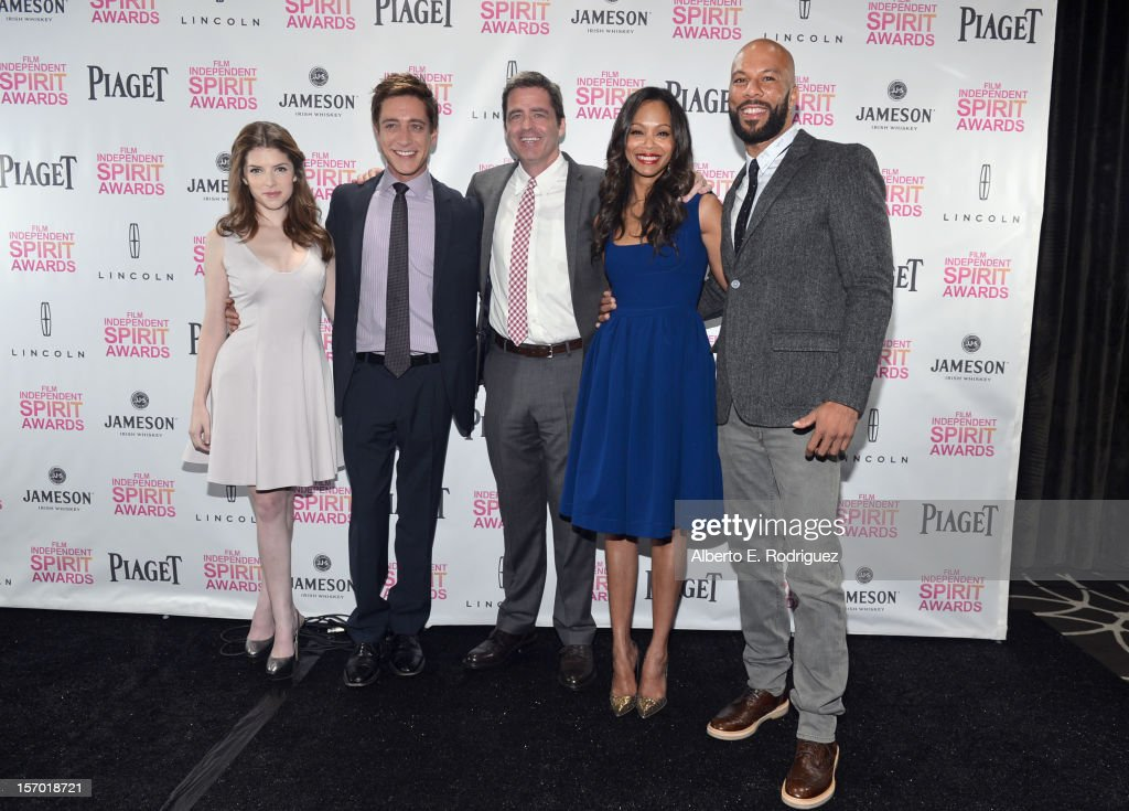 Actress Anna Kendrick CoPresident of Film Independent Sean McManus CoPresident of Film Independent Josh Welsh recording artist Common and actress Zoe...