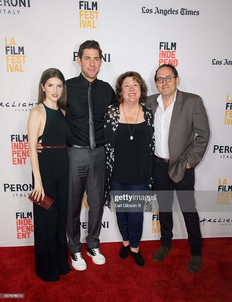 Actress Anna Kendrick Director John Krasinski Actress Margo Martindale and CoPresident Sony Pictures Michael Barker attend the LA Film Festival...