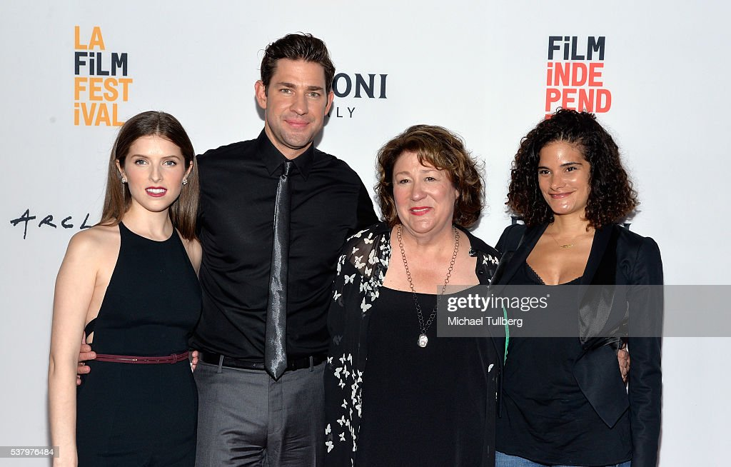 Actress Anna Kendrick director John Krasinski and actresses Margo Martindale and Ashley Dyke attend a screening of 'The Hollars' at the LA Film...