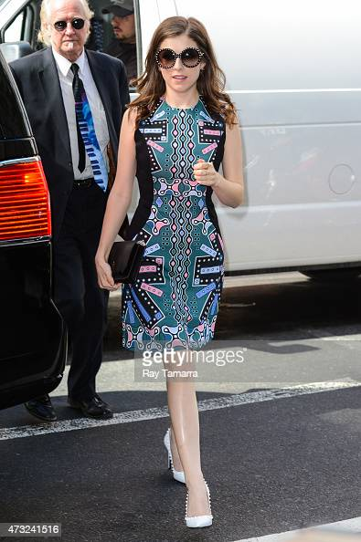 Actress Anna Kendrick enters the 'Today Show' taping at the NBC Rockefeller Center Studios on May 13 2015 in New York City