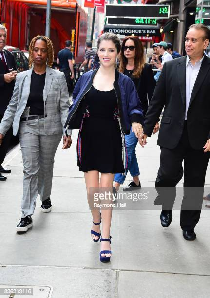 Actress Anna Kendrick is seen outside 'Good Morning America' on August 21 2017 in New York City
