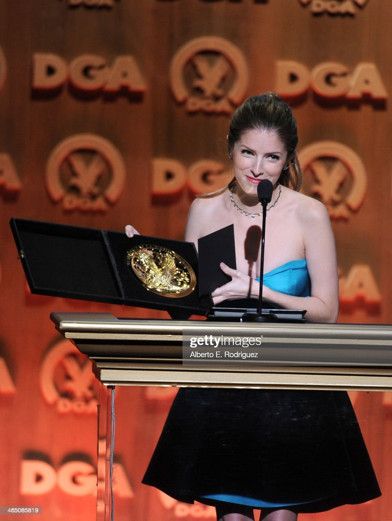 Actress Anna Kendrick onstage at the 66th Annual Directors Guild Of America Awards held at the Hyatt Regency Century Plaza on January 25 2014 in...
