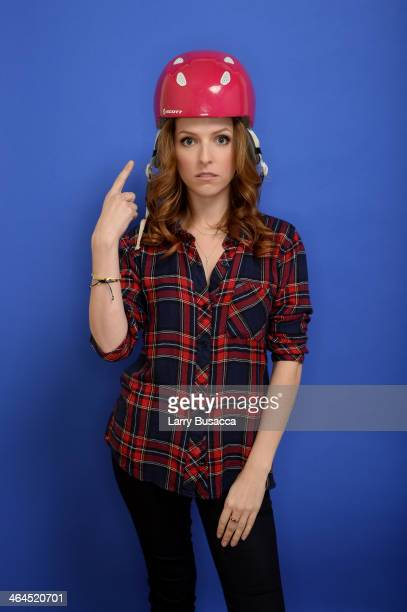 Actress Anna Kendrick poses for a portrait during the 2014 Sundance Film Festival at the Getty Images Portrait Studio at the Village At The Lift...