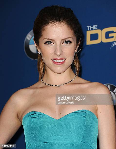 Actress Anna Kendrick poses in the press room at the 66th annual Directors Guild of America Awards at the Hyatt Regency Century Plaza on January 25...