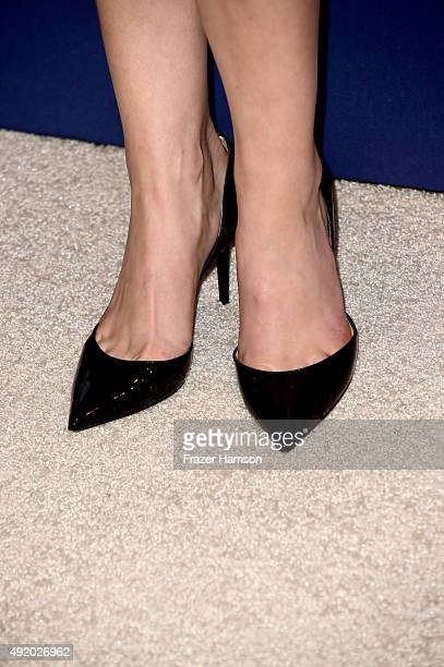 Actress Anna Kendrick shoe detail attends Variety's Power Of Women Luncheon at the Beverly Wilshire Four Seasons Hotel on October 9 2015 in Beverly...