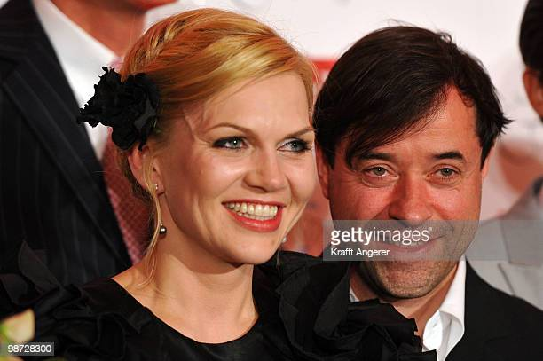 Actress Anna LoosLiefers and actor JanJosef Liefers pose at the GALA Couple of the Year Event on April 28 2010 in Hamburg Germany
