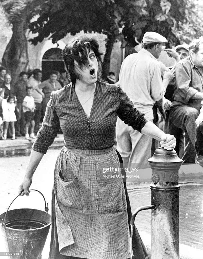 Actress Anna Magnani on set of the United Artist movie 'The Secret of Santa Vittoria' in 1969