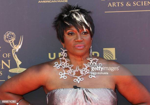 Actress Anna Maria Horsford attends the 44th annual Daytime Emmy Awards at The Pasadena Civic Auditorium on April 30 2017 in Pasadena California