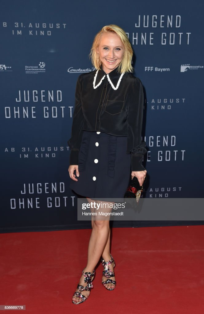 Actress Anna Maria Muehe during the 'Jugend ohne Gott' premiere at Mathaeser Filmpalast on August 21, 2017 in Munich, Germany.