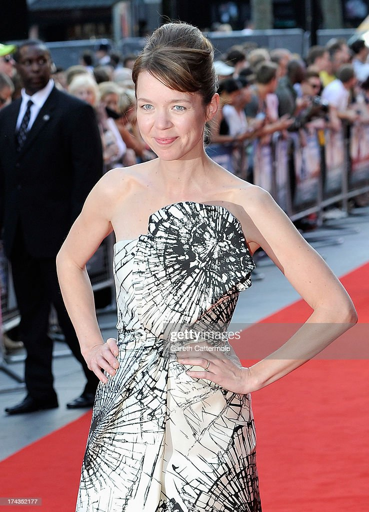 Actress Anna Maxwell Martin attends the London Premiere of 'Alan Partidge: Alpha Papa' at Vue Leicester Square on July 24, 2013 in London, England.