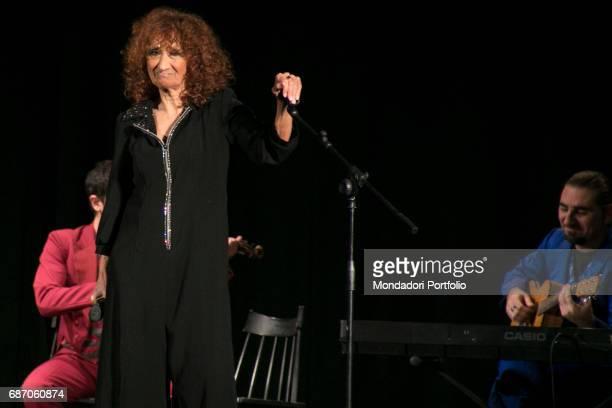 Actress Anna Mazzamauro acting in her monologue Nuda e cruda at the Teatro Delfino Milan Italy 3rd December 2016