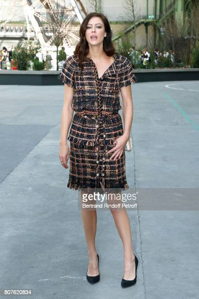 Actress Anna Mouglalis attends the Chanel Haute Couture Fall/Winter 20172018 show as part of Haute Couture Paris Fashion Week on July 4 2017 in Paris...
