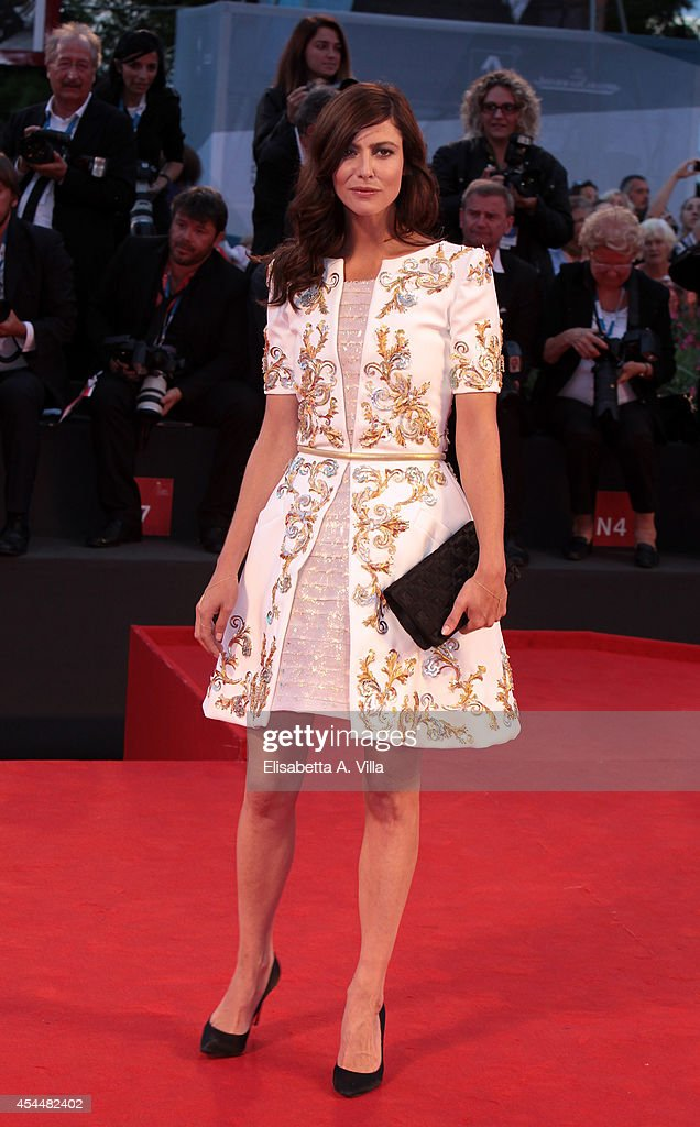 Actress Anna Mouglalis attends the 'Il Giovane Favoloso' premiere during the 71st Venice Film Festival at Sala Grande on September 1, 2014 in Venice, Italy.