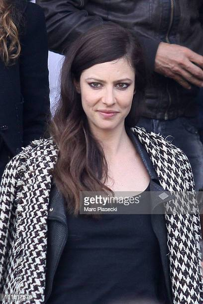 Actress Anna Mouglalis during the last day of Karl Lagerfeld's Chanel shooting 'le conte d'une fee' at Monte Carlo on April 7 2011 in Monaco Monaco