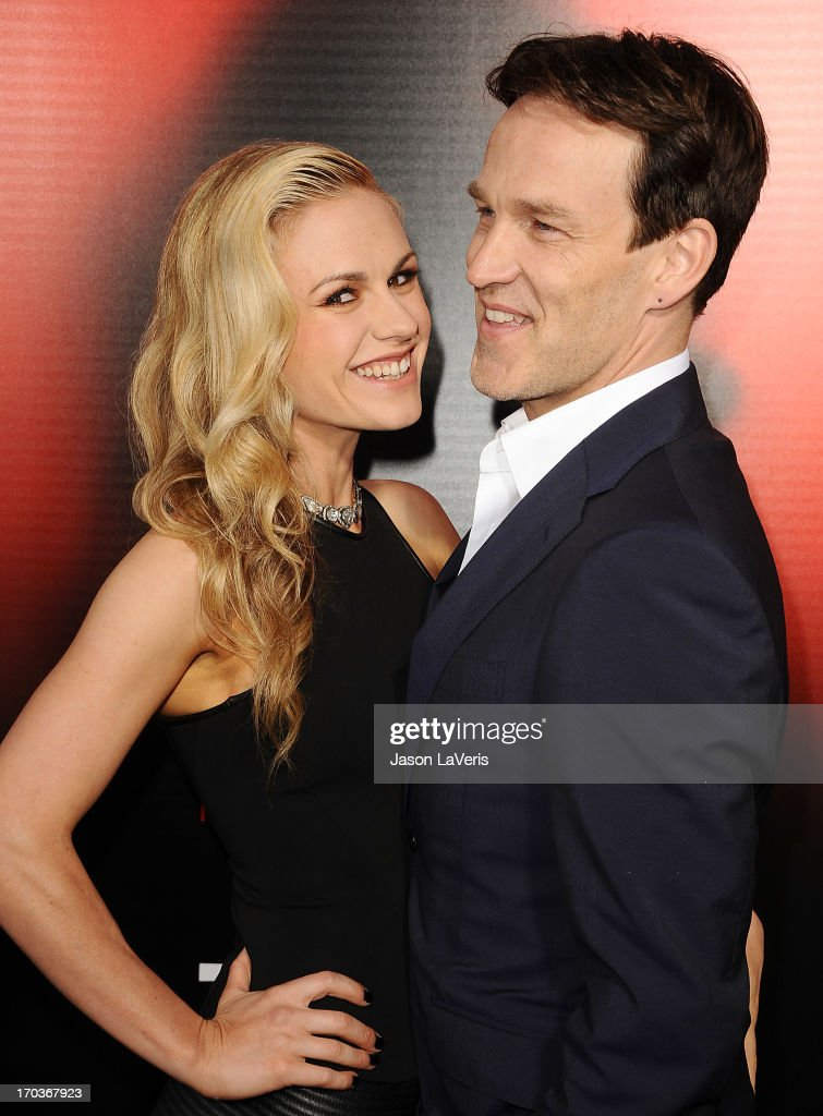 Actress Anna Paquin and actor Stephen Moyer attend the season 6 premiere of HBO's 'True Blood' at ArcLight Cinemas Cinerama Dome on June 11, 2013 in Hollywood, California.