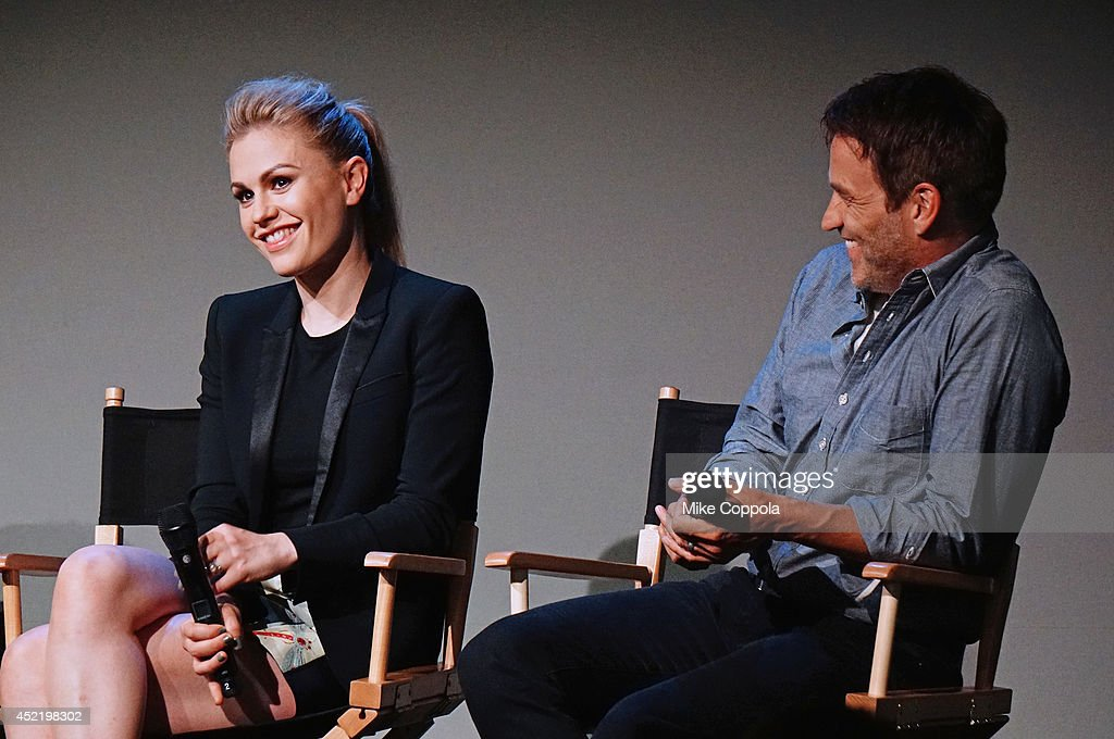 Actress Anna Paquin and actor/husband Stephen Moyer attend 'Meet The Cast' on July 15 2014 in New York United States