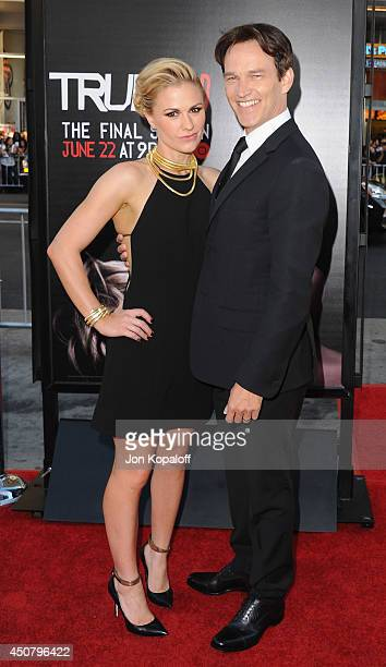 Actress Anna Paquin and husband actor Stephen Moyer arrive at HBO's 'True Blood' Final Season Premiere at TCL Chinese Theatre on June 17 2014 in...