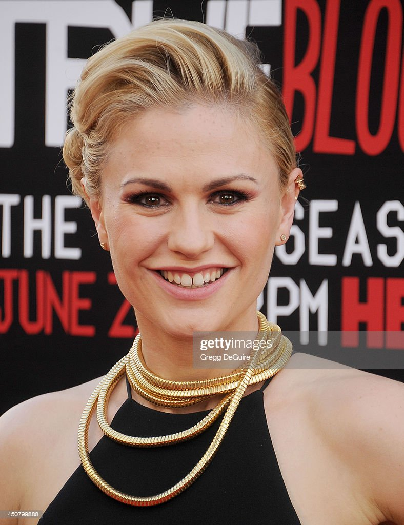 Actress Anna Paquin arrives at HBO's 'True Blood' final season premiere at TCL Chinese Theatre on June 17 2014 in Hollywood California