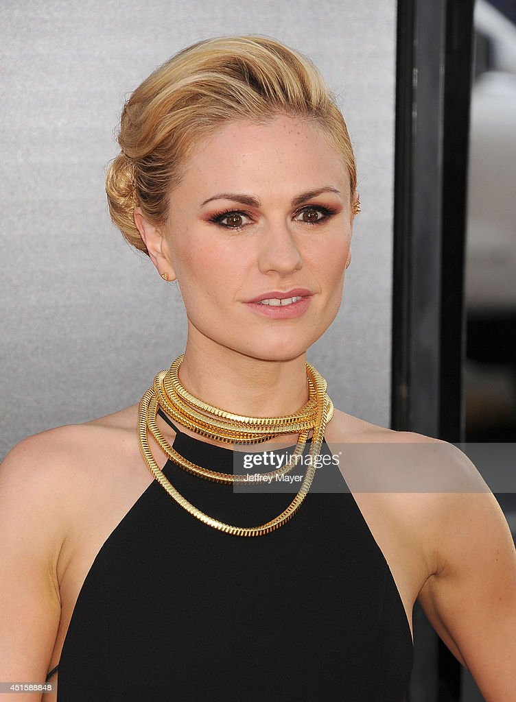 Actress <a gi-track='captionPersonalityLinkClicked' href=/galleries/search?phrase=Anna+Paquin&family=editorial&specificpeople=211602 ng-click='$event.stopPropagation()'>Anna Paquin</a> arrives at HBO's 'True Blood' final season premiere at TCL Chinese Theatre on June 17, 2014 in Hollywood, California.