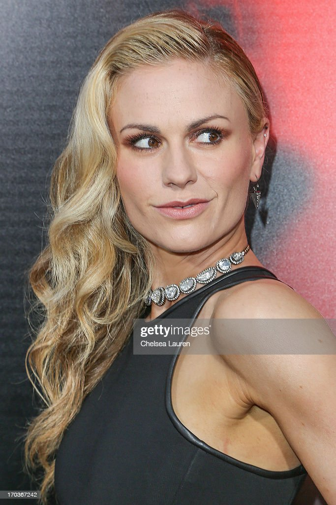 Actress Anna Paquin arrives at HBO's 'True Blood' season 6 premiere at ArcLight Cinemas Cinerama Dome on June 11, 2013 in Hollywood, California.