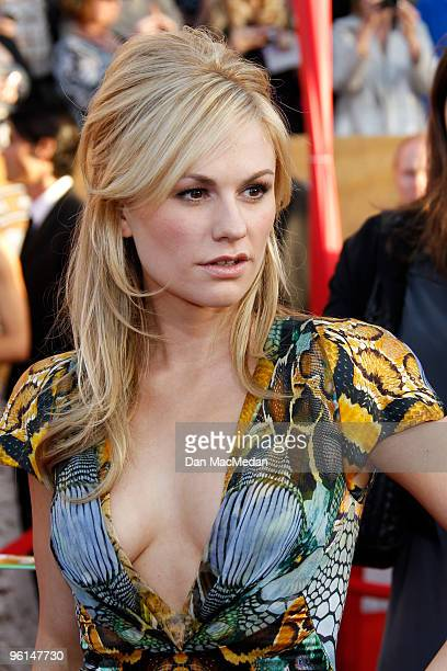 Actress Anna Paquin arrives at the 16th Annual Screen Actors Guild Awards held at the Shrine Auditorium on January 23 2010 in Los Angeles California