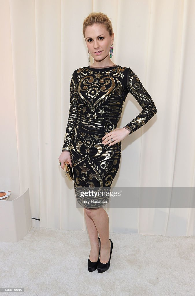 Actress Anna Paquin arrives at the 20th Annual Elton John AIDS Foundation Academy Awards Viewing Party at The City of West Hollywood Park on February 26, 2012 in Beverly Hills, California.