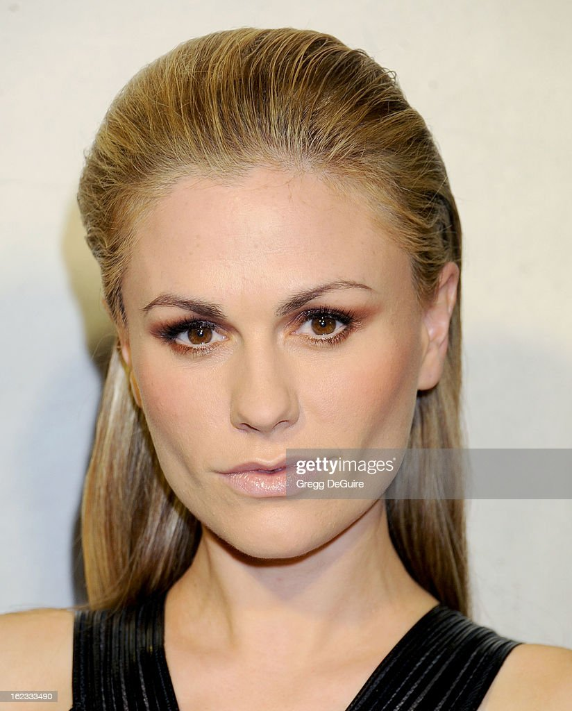 Actress Anna Paquin arrives at the Tom Ford cocktail party in support of Project Angel Food at TOM FORD on February 21, 2013 in Beverly Hills, California.