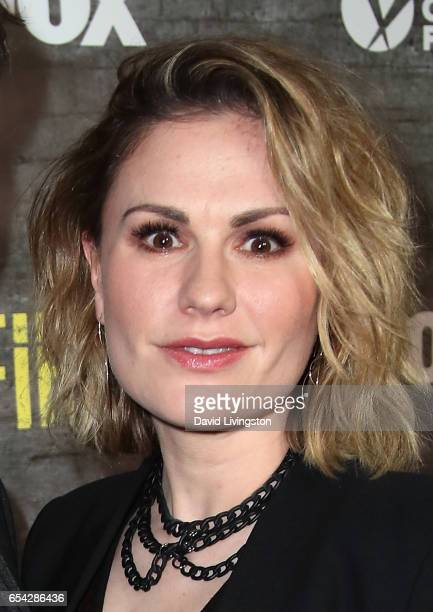 Actress Anna Paquin attends a screening and discussion of FOX's 'Shots Fired' at Pacific Design Center on March 16 2017 in West Hollywood California