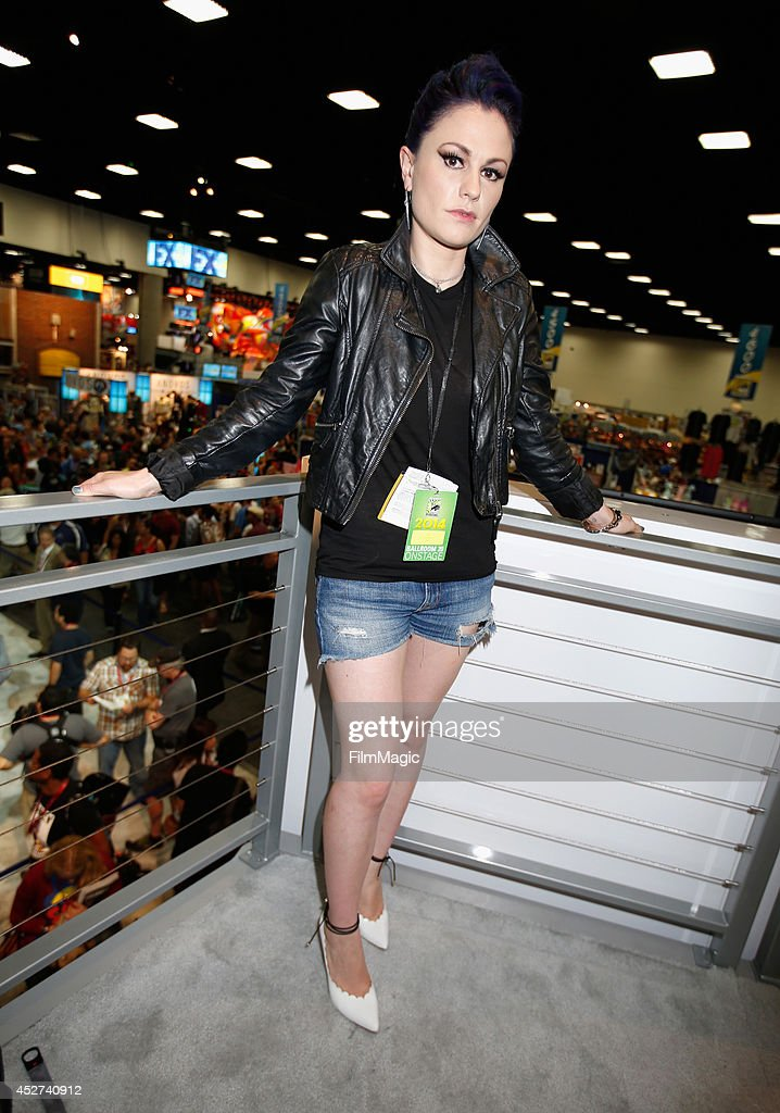 Actress Anna Paquin attends HBO's 'True Blood' cast autograph signing during ComicCon 2014 on July 26 2014 in San Diego California