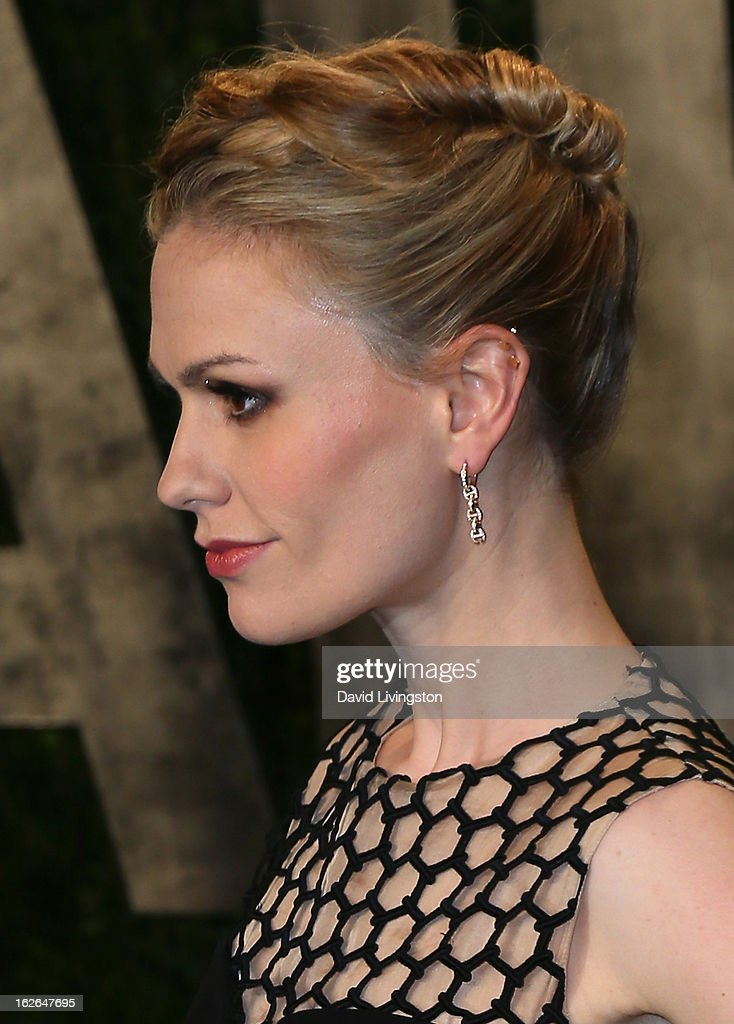 Actress Anna Paquin attends the 2013 Vanity Fair Oscar Party at the Sunset Tower Hotel on February 24, 2013 in West Hollywood, California.