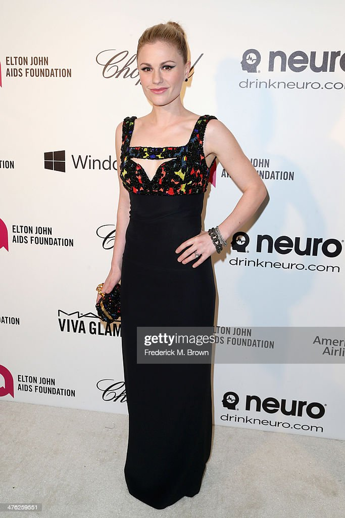 Actress Anna Paquin attends the 22nd Annual Elton John AIDS Foundation's Oscar Viewing Party on March 2 2014 in Los Angeles California