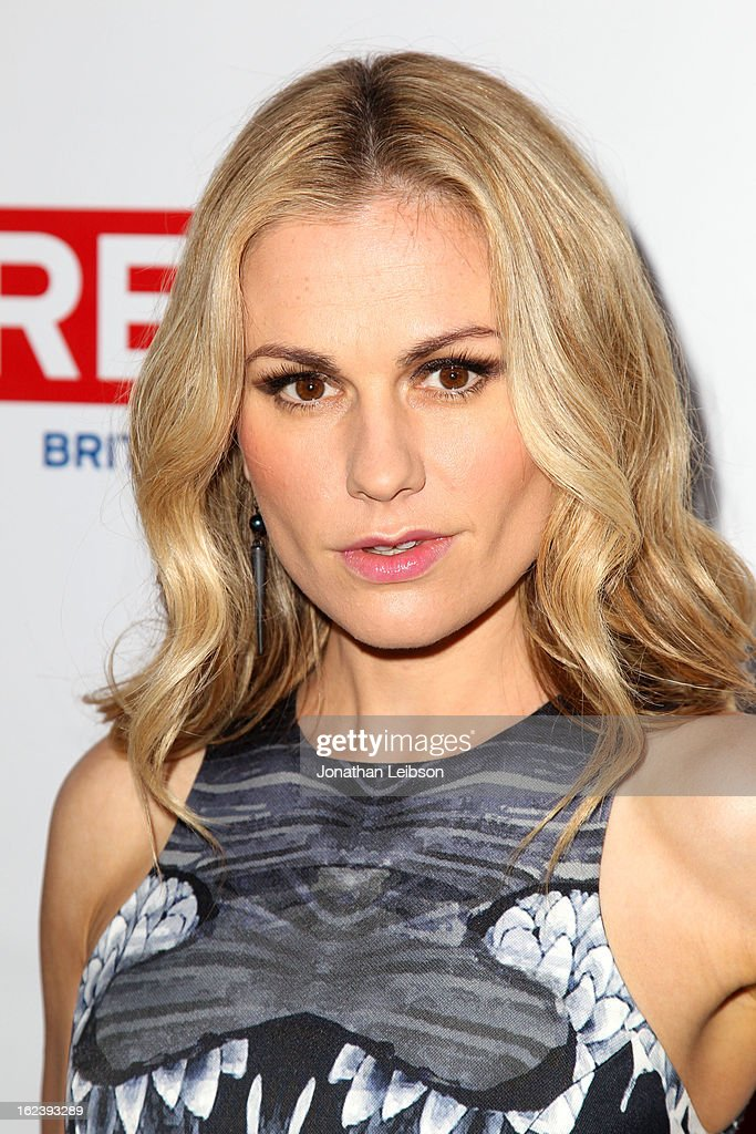 Actress Anna Paquin attends the GREAT British Film Reception at British Consul General's Residence on February 22, 2013 in Los Angeles, California.