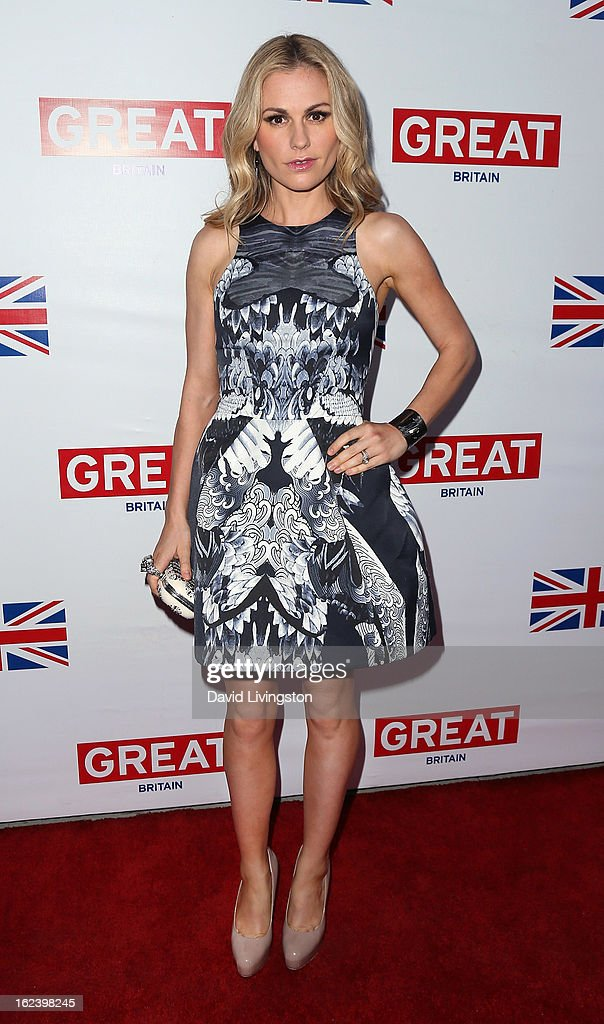 Actress Anna Paquin attends the GREAT British Film Reception at the British Consul General's Residence on February 22, 2013 in Los Angeles, California.