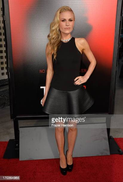 Actress Anna Paquin attends the premiere of HBO's 'True Blood' Season 6 at ArcLight Cinemas Cinerama Dome on June 11 2013 in Hollywood California