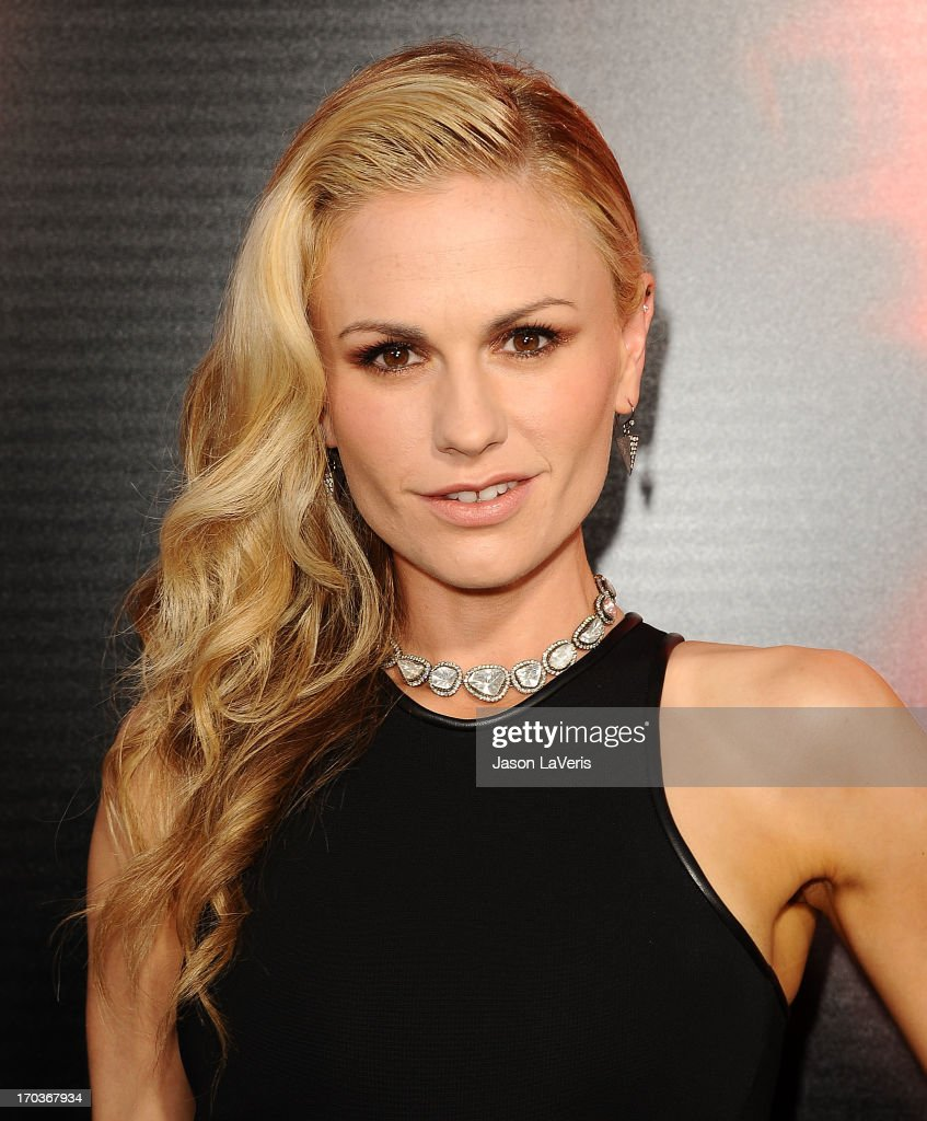 Actress <a gi-track='captionPersonalityLinkClicked' href=/galleries/search?phrase=Anna+Paquin&family=editorial&specificpeople=211602 ng-click='$event.stopPropagation()'>Anna Paquin</a> attends the season 6 premiere of HBO's 'True Blood' at ArcLight Cinemas Cinerama Dome on June 11, 2013 in Hollywood, California.