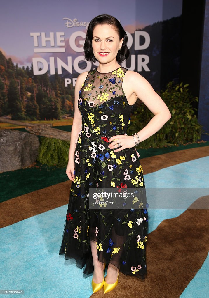 Actress Anna Paquin attends the World Premiere Of DisneyPixar's THE GOOD DINOSAUR at the El Capitan Theatre on November 17 2015 in Hollywood...