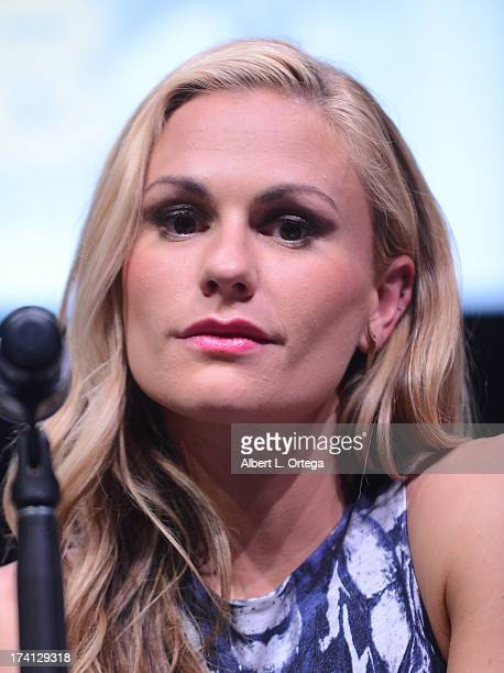Actress Anna Paquin speaks at the 20th Century Fox 'XMen Days of Future Past' panel during ComicCon International 2013 at San Diego Convention Center...
