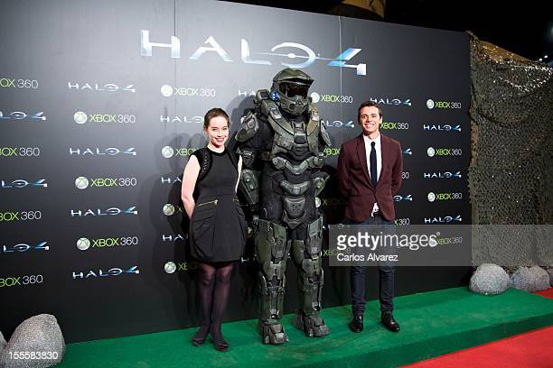 Actress Anna Popplewell and actor Tom Green attend 'Halo 4 Forward Unto Dawn' premiere at the Callao cinema on November 5 2012 in Madrid Spain